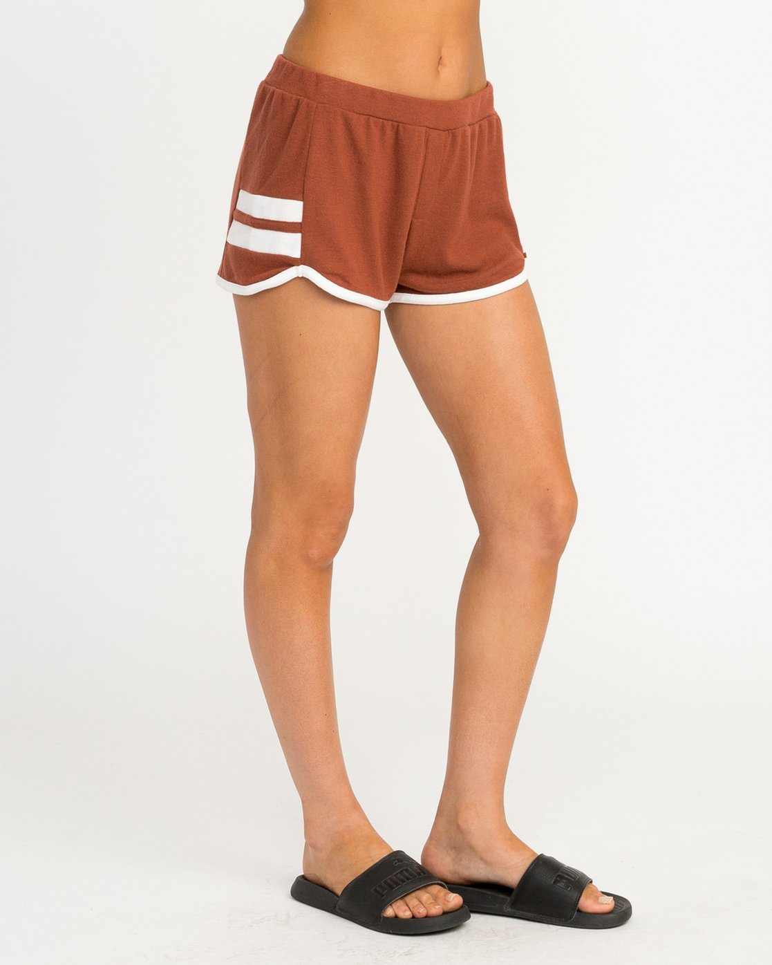 5 Julep Fleece Soft Short Brown WL12QRJU RVCA