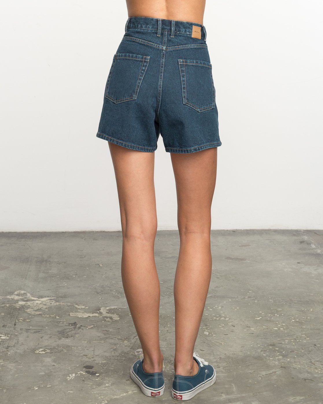4d2fd2c8fb04a7 1 No Age High-Waisted Denim Shorts WL201NOA RVCA