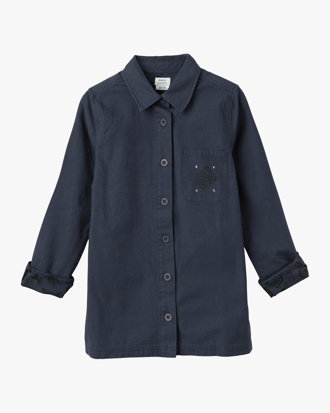 4 Bygone Button-Up Shirt Jacket Blue WL701BYG RVCA