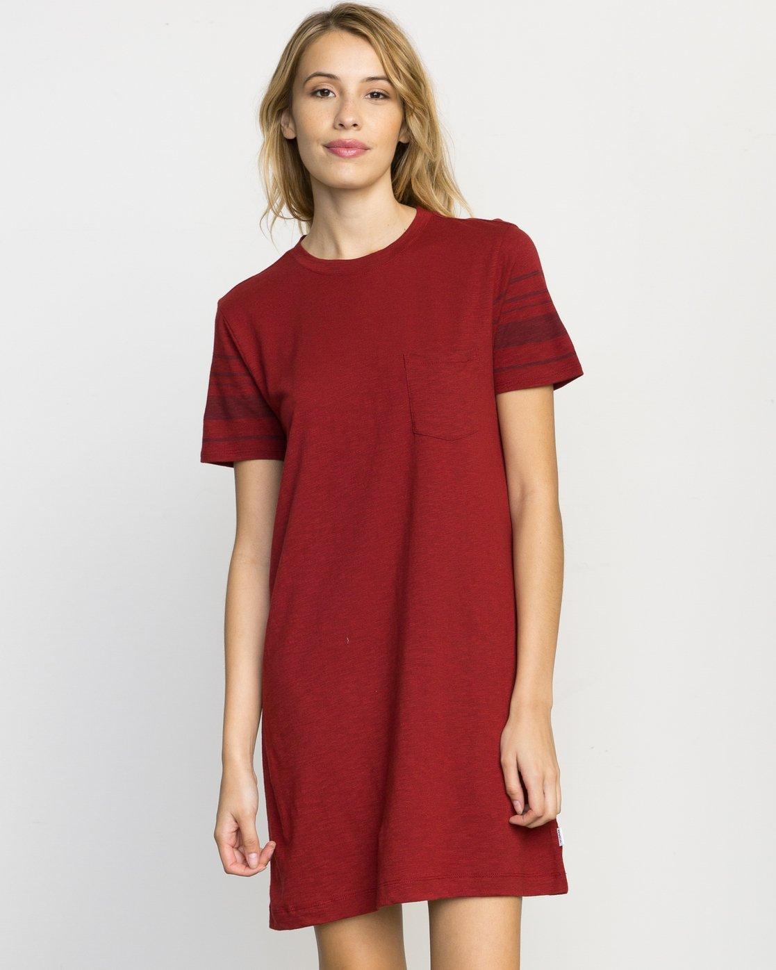 2c1b62a64dc8 0 Short Stop T-Shirt Dress WLD08SHO RVCA