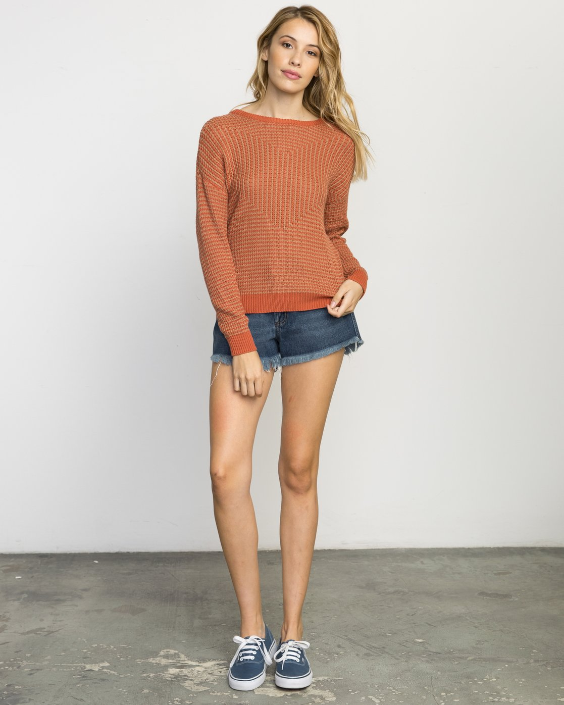 5 Light Up Knit Sweater Pink WLVV02LI RVCA