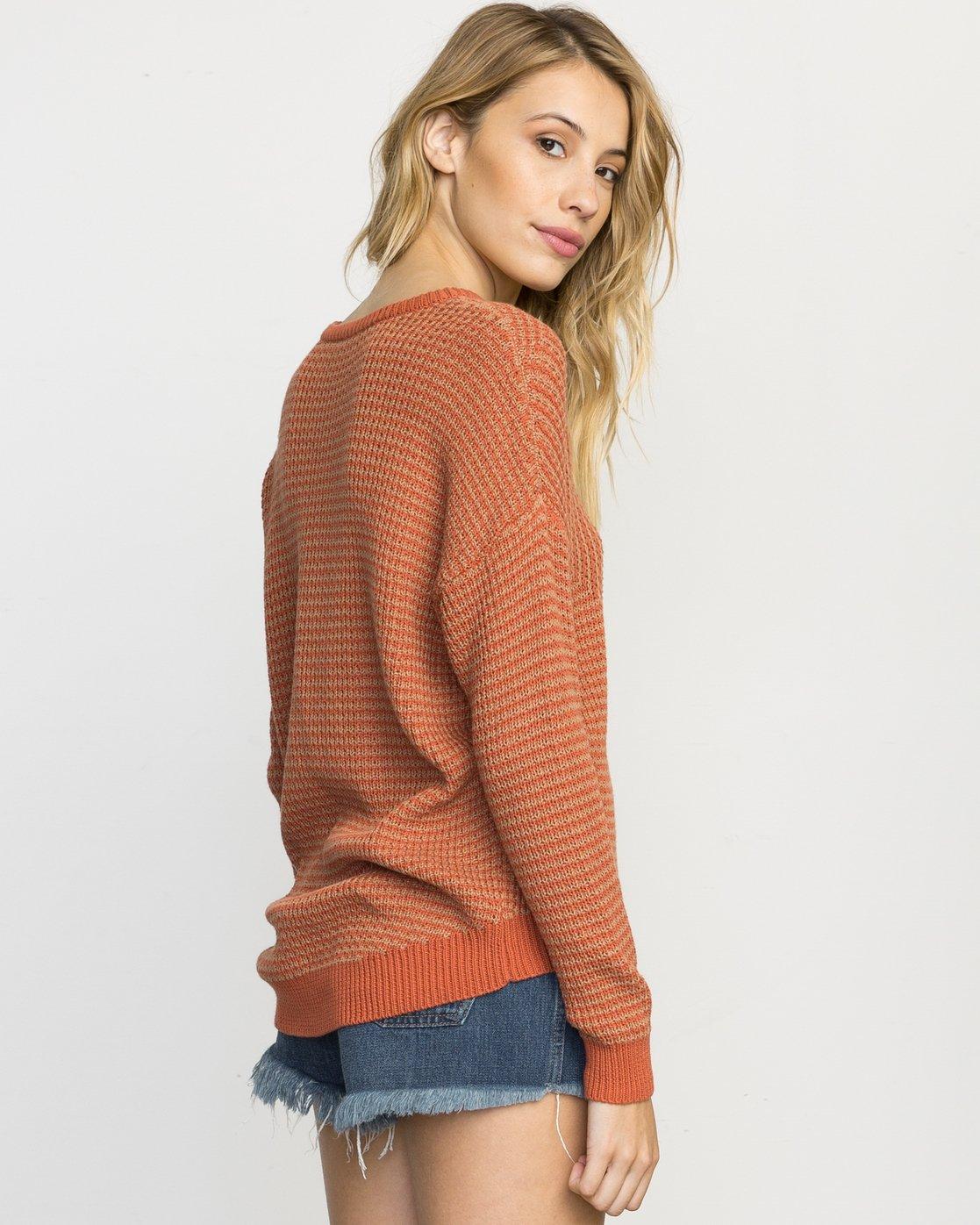3 Light Up Knit Sweater Pink WLVV02LI RVCA