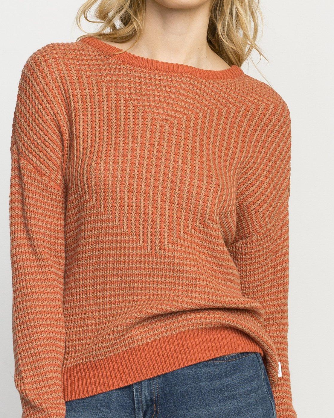 4 Light Up Knit Sweater Pink WLVV02LI RVCA