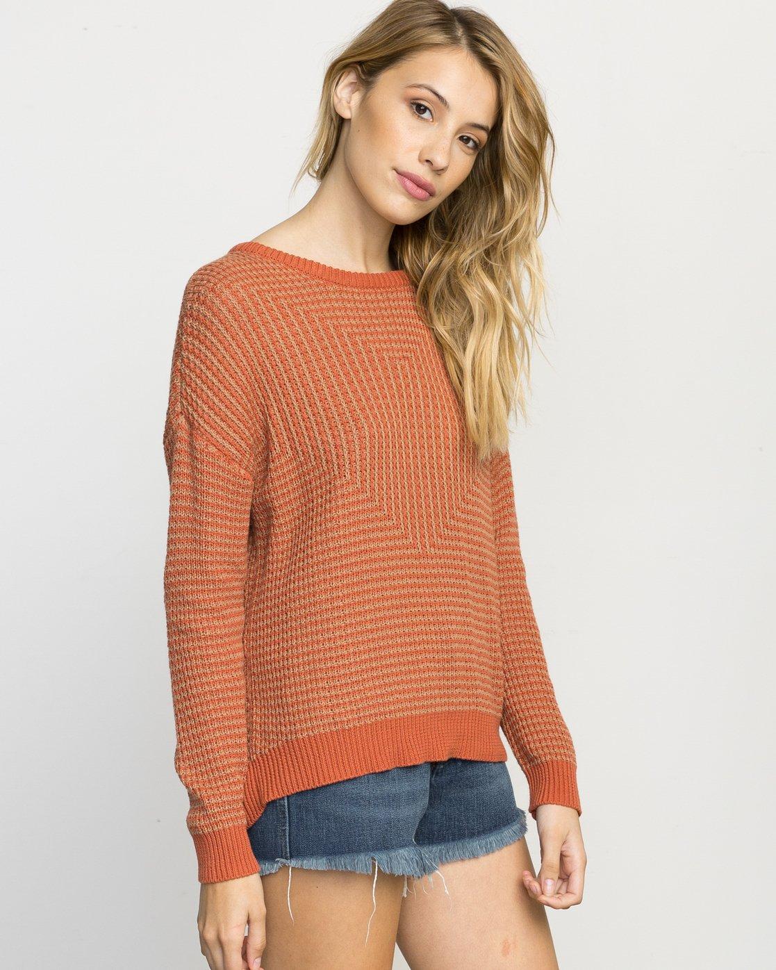 1 Light Up Knit Sweater Pink WLVV02LI RVCA