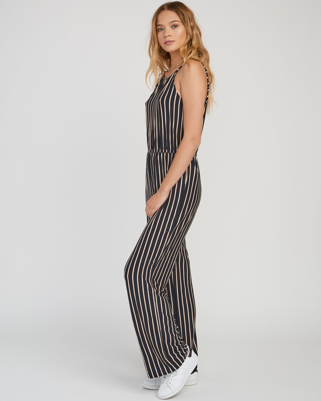 1 Hush Striped Jumpsuit Grey WN01SRHU RVCA