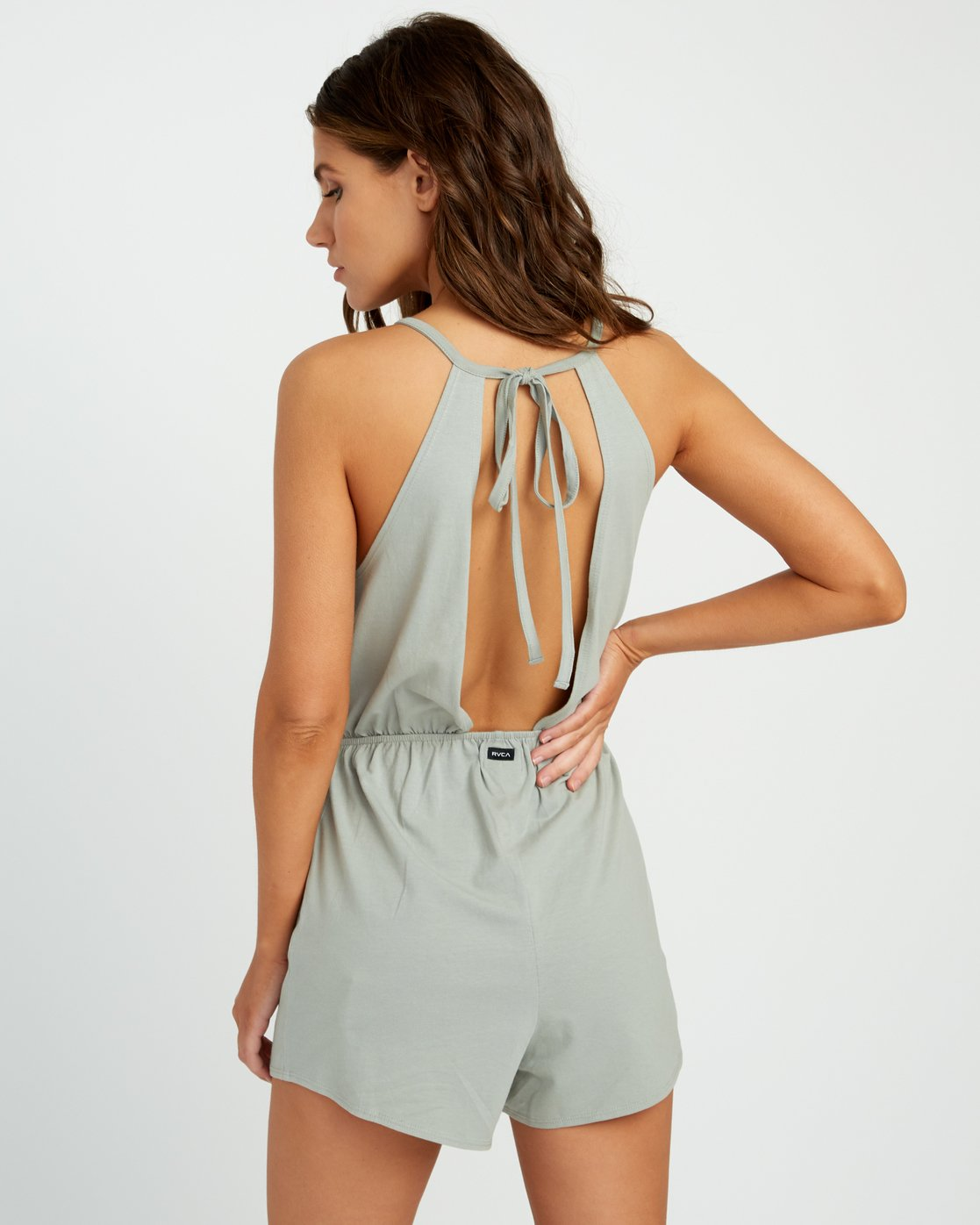 3 Monsoon Knit Romper Green WN01URMO RVCA