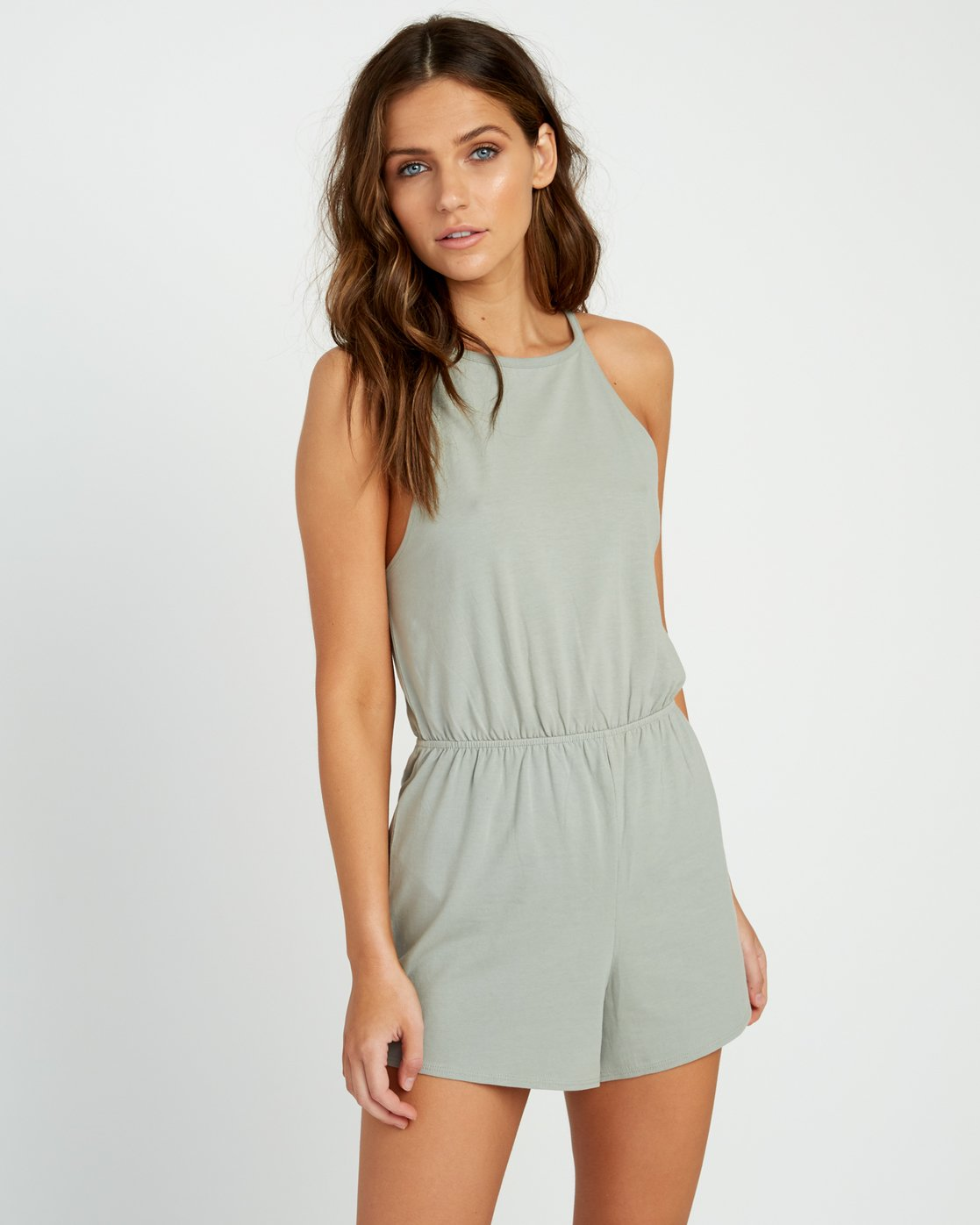 1 Monsoon Knit Romper Green WN01URMO RVCA