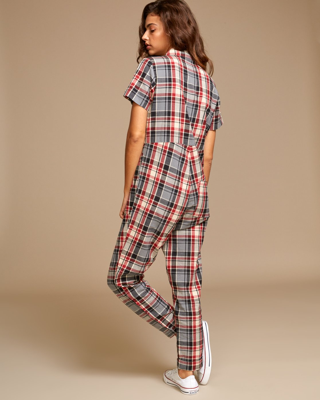 4 Atlas Plaid Coverall Brown WN01VRAT RVCA