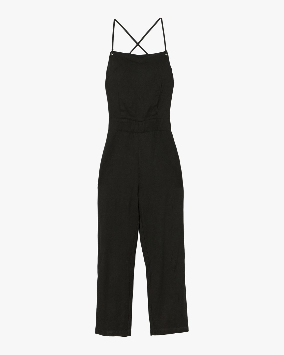 4 Free Fall Wide Leg Jumpsuit Black WN02SRFR RVCA