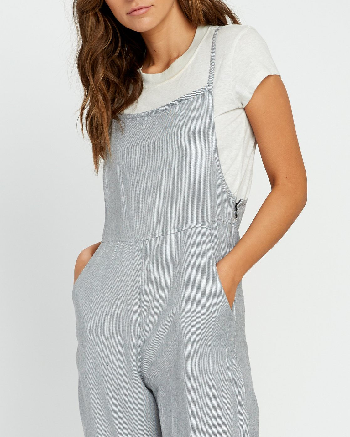 4 Danforth Striped Woven Overall Black WN02URDA RVCA