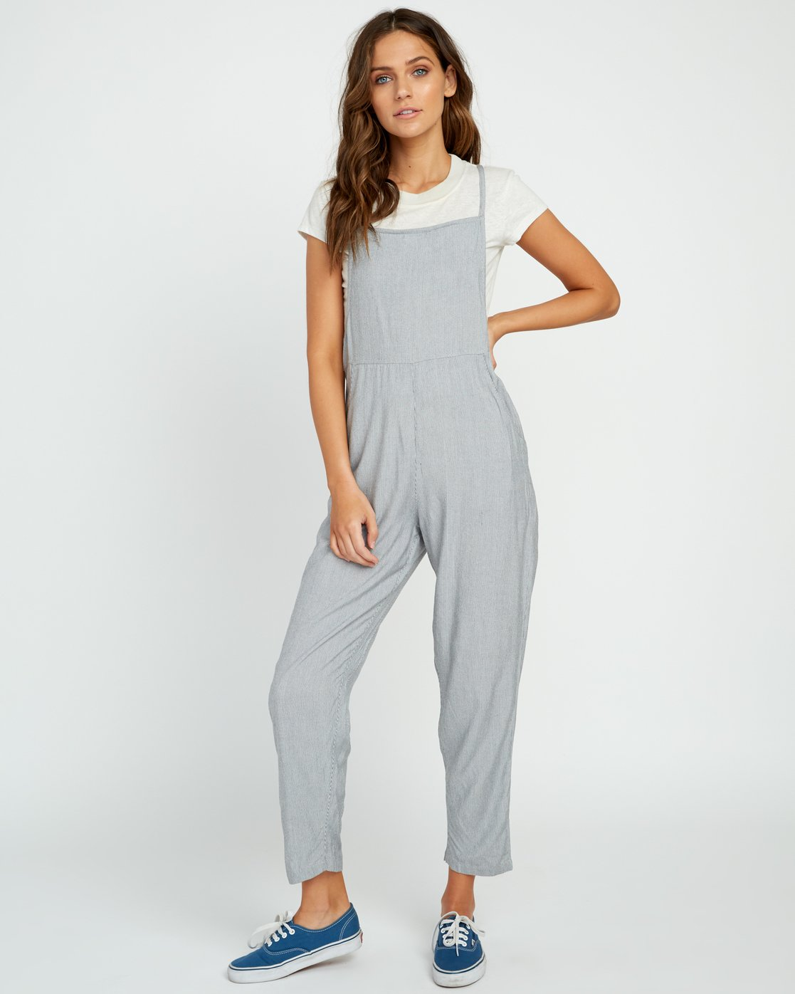 1 Danforth Striped Woven Overall Black WN02URDA RVCA