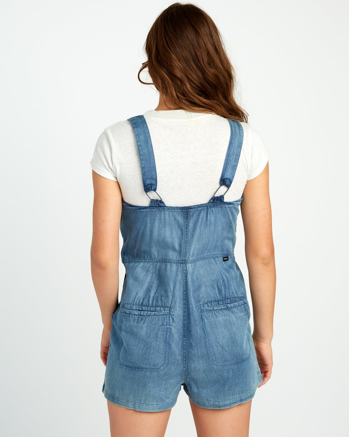 3 Crack It Chambray Overalls Blue WN03URCR RVCA