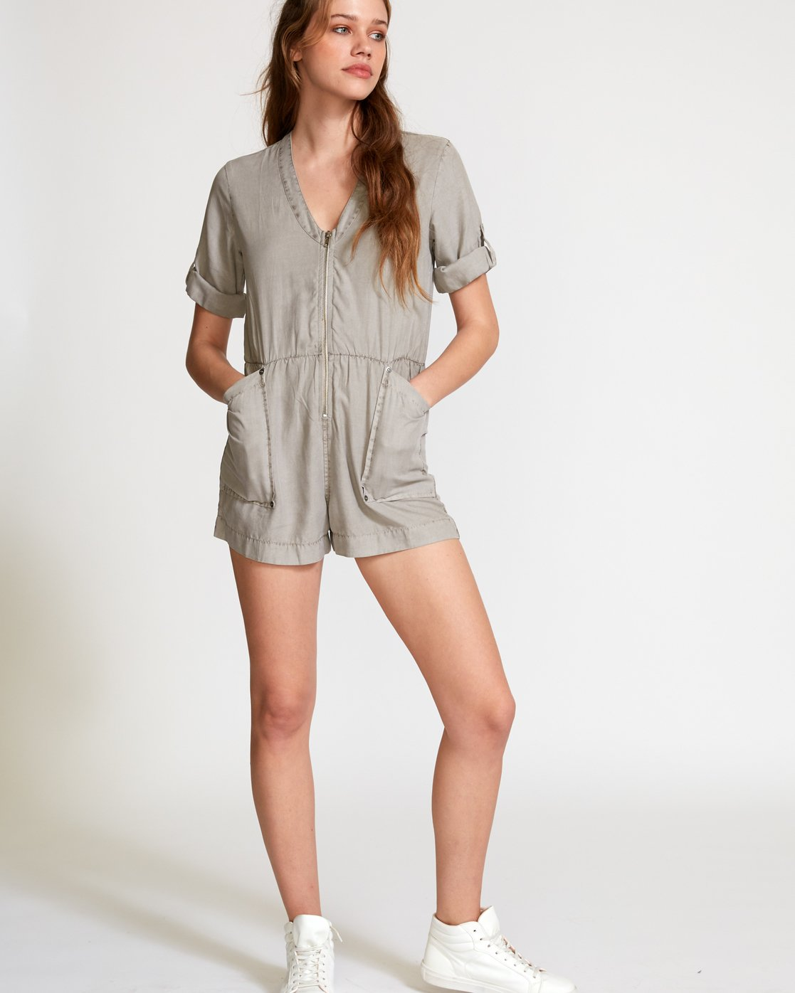 4 Drove Out Romper Grey WN03VRDR RVCA