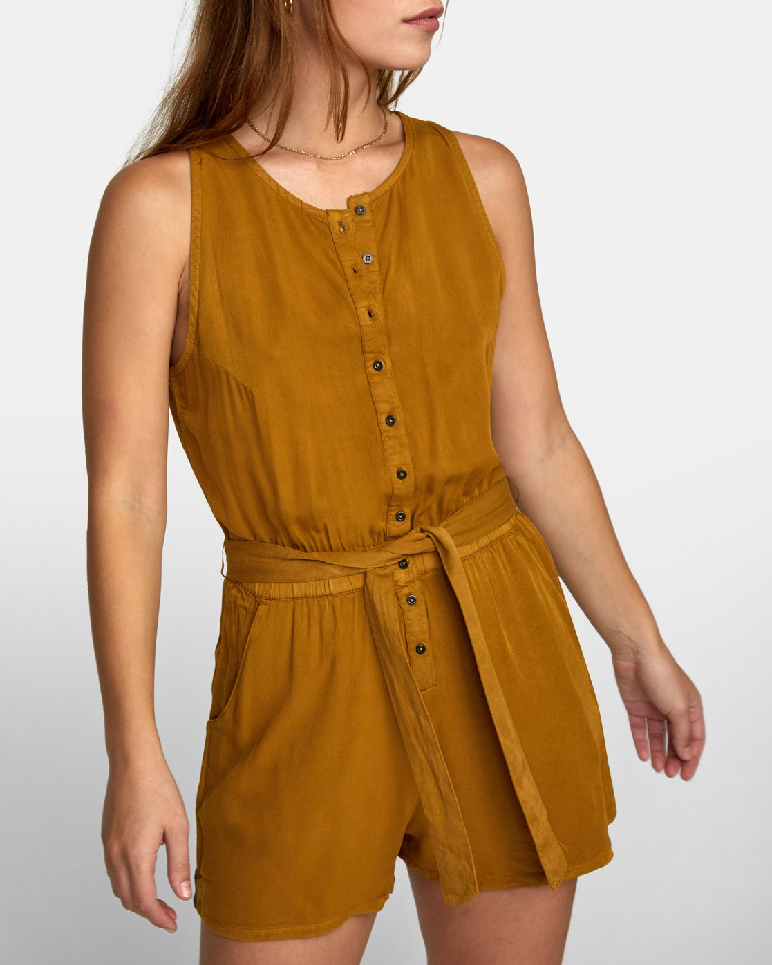 2 LATTER LOUNGE ROMPER Brown WN041RLA RVCA