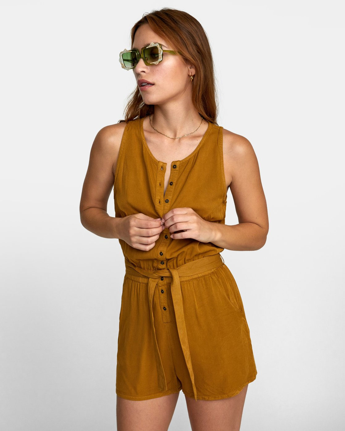 0 LATTER LOUNGE ROMPER Brown WN041RLA RVCA