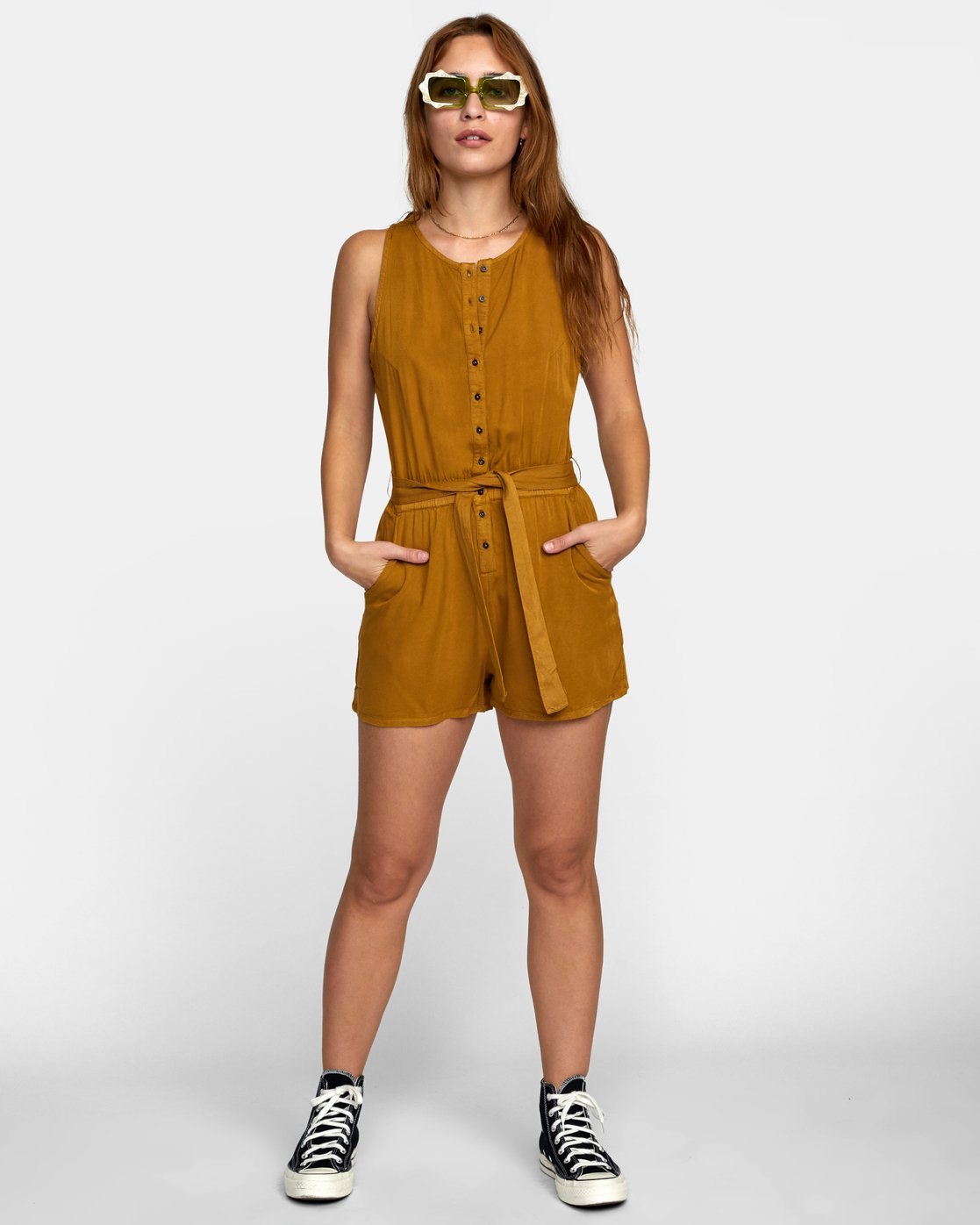 1 LATTER LOUNGE ROMPER Brown WN041RLA RVCA