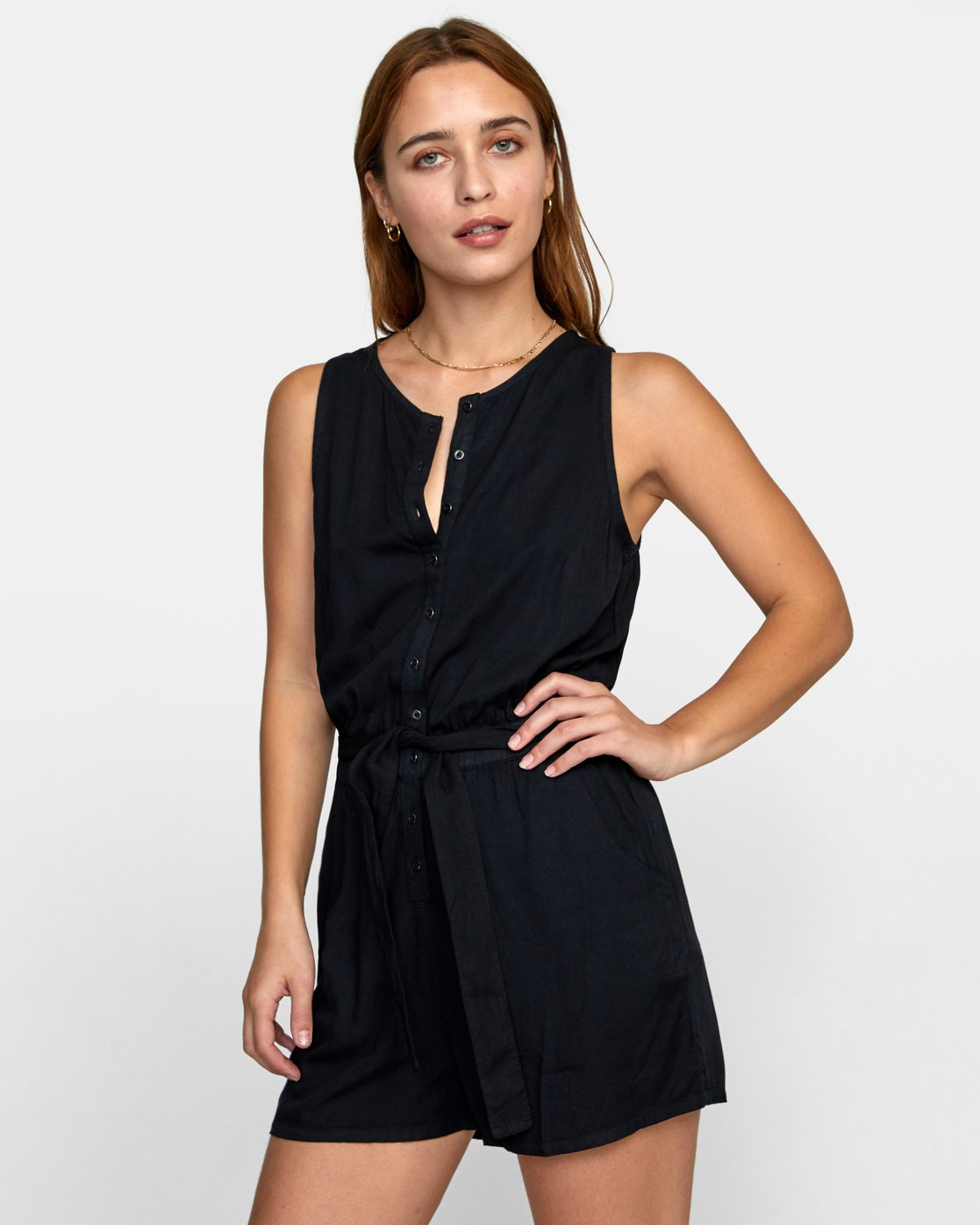 3 LATTER LOUNGE ROMPER Black WN041RLA RVCA