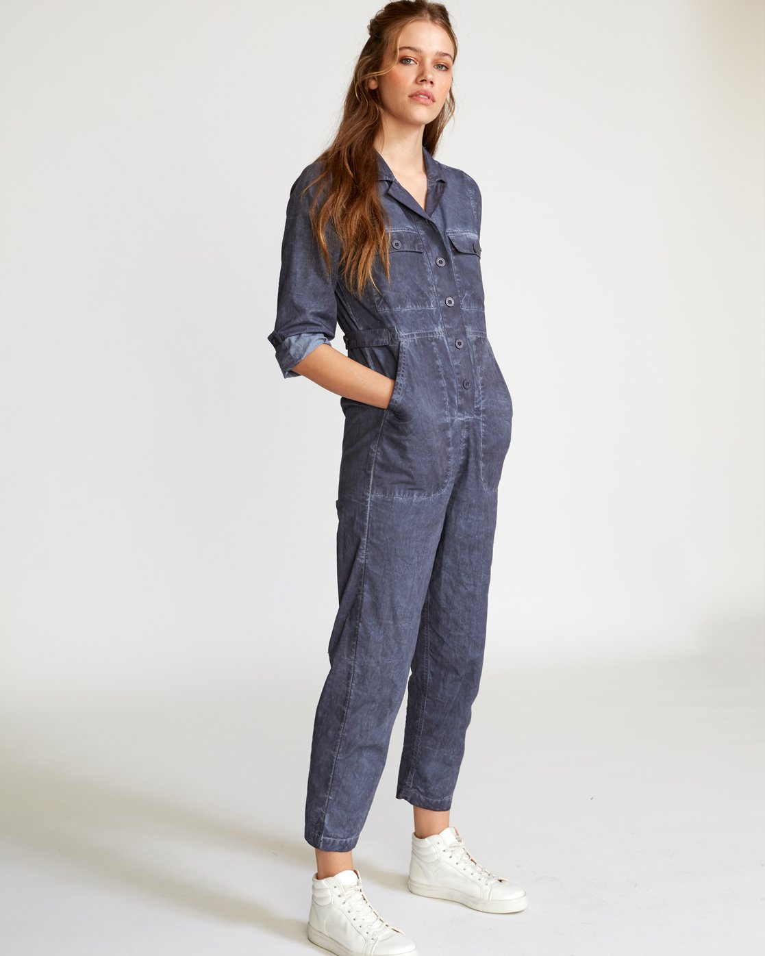 1 Arlo Washed Coverall Blue WN07VRAR RVCA