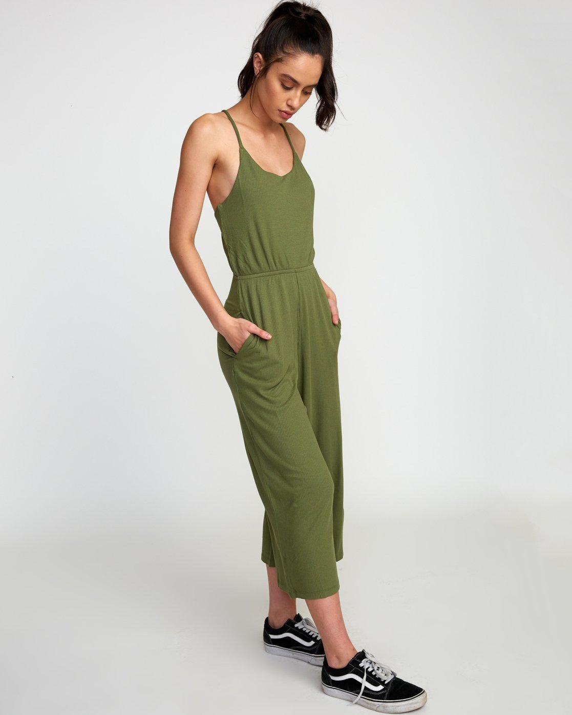 0 Jarvis Knit Jumpsuit Green WN08TRJJ RVCA