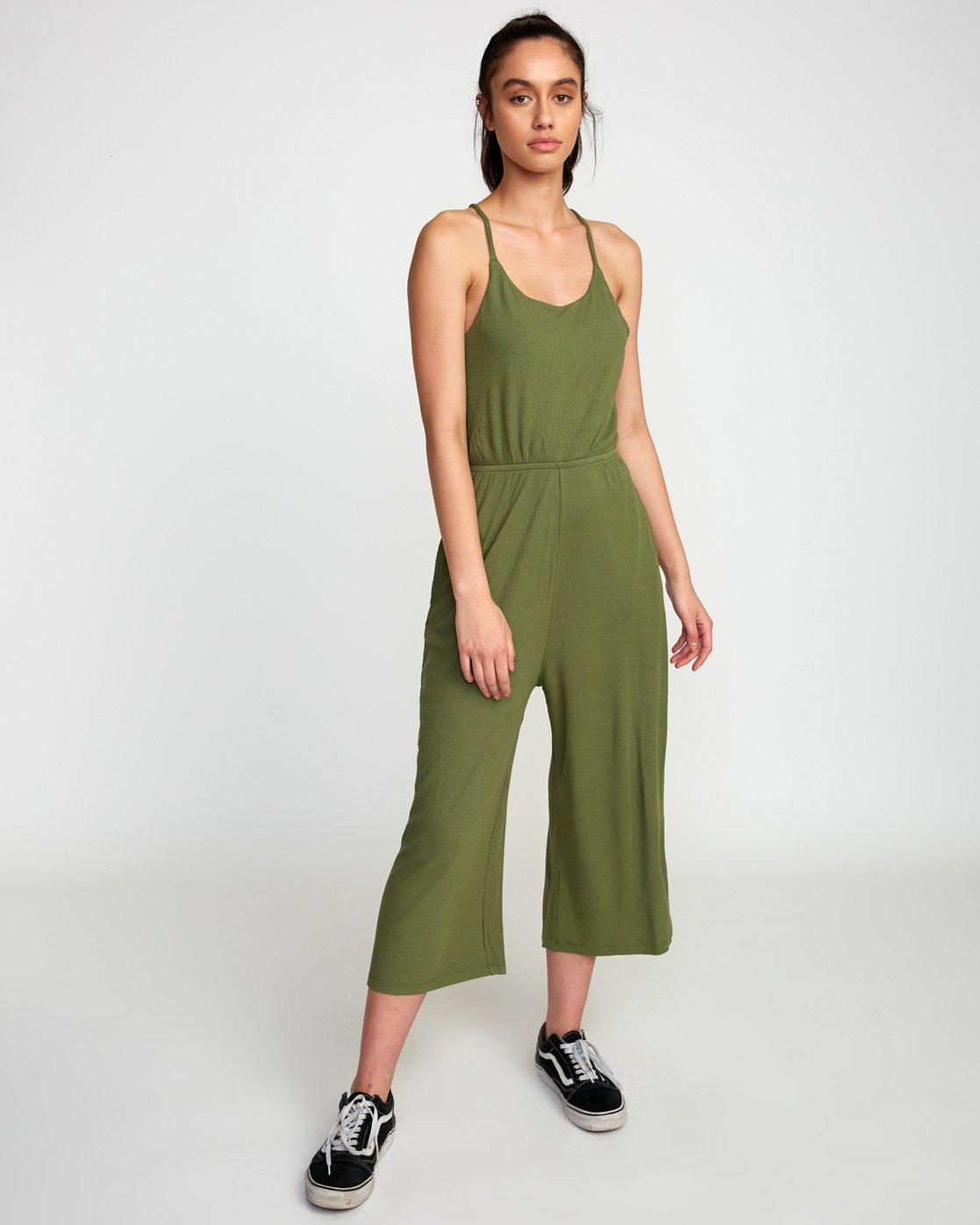 1 Jarvis Knit Jumpsuit Green WN08TRJJ RVCA