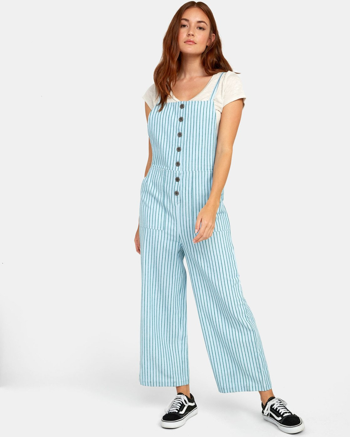 0 SHOUTOUT STRIPED JUMPSUIT Green WN091RSS RVCA