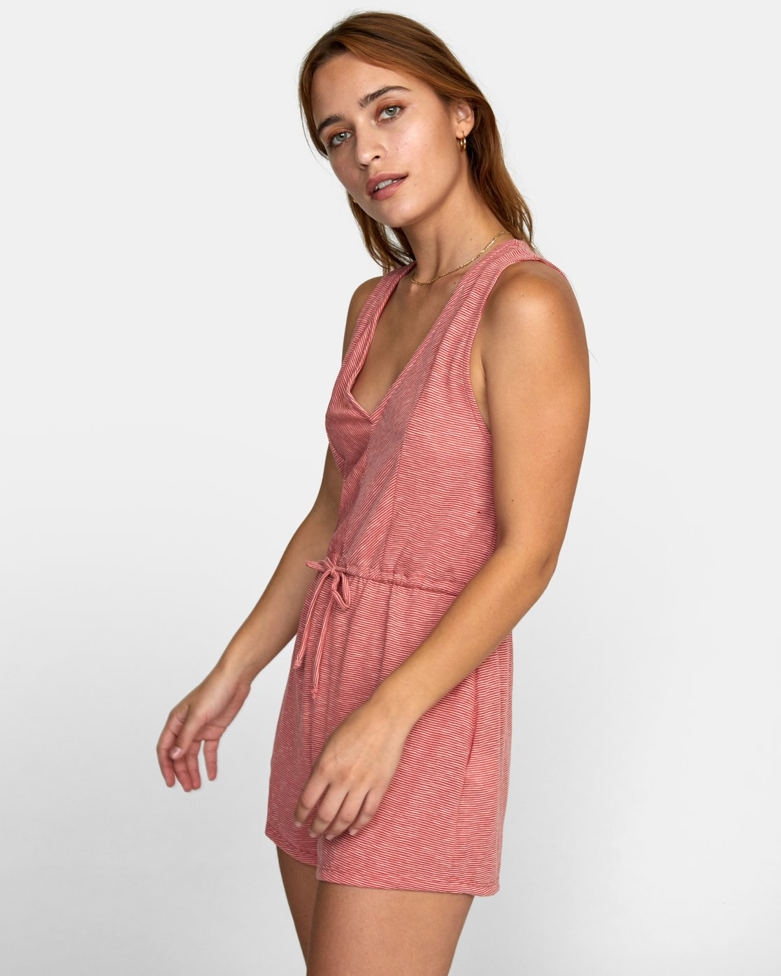 3 RIGHTEOUS KNIT ROMPER Red WN111RRI RVCA