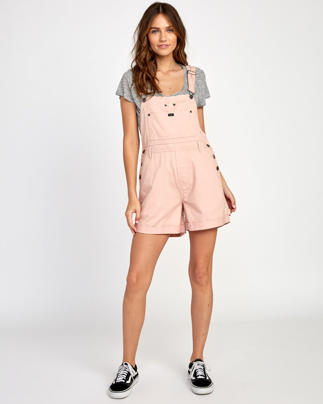 4 Sloucher Overall Pink WN31VRSL RVCA