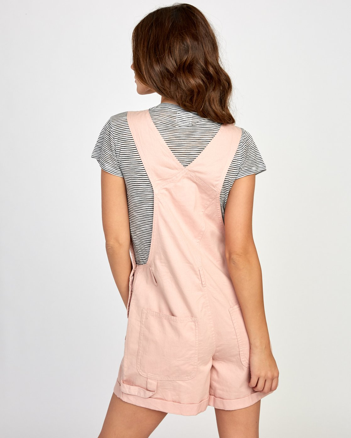 2 Sloucher Overall Pink WN31VRSL RVCA
