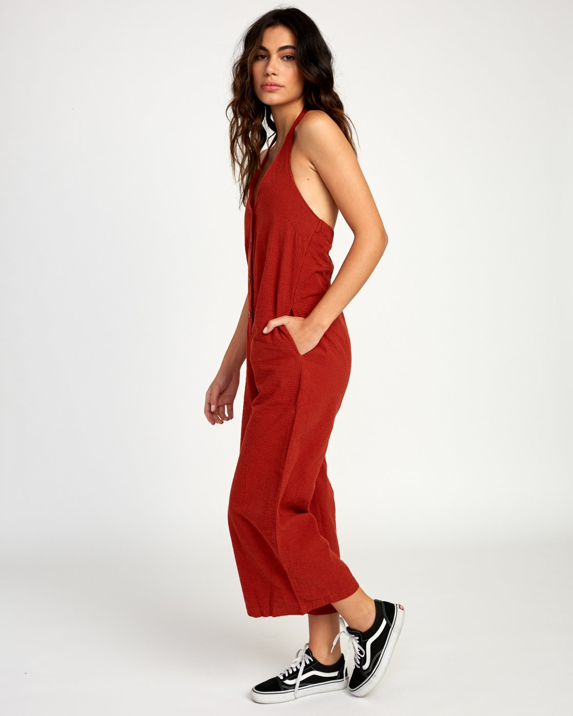 2 Holt Halter Jumpsuit Red WN38TRHO RVCA