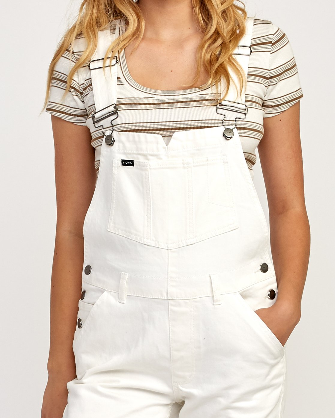 3 Reworked Denim Overall White WN75TRRO RVCA