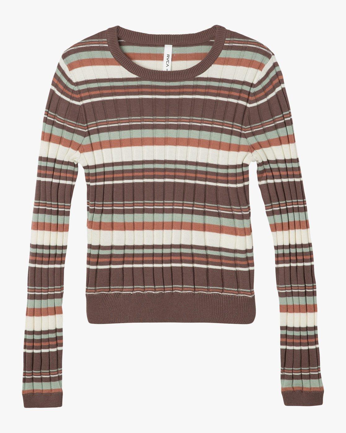 4 Sally Striped Knit Sweater  WV01NRSA RVCA