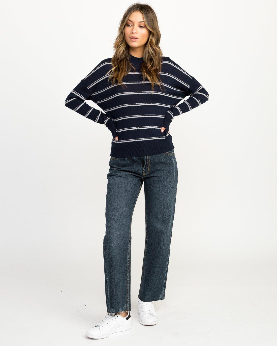 3 Armed Striped Sweater  WV01QRAR RVCA