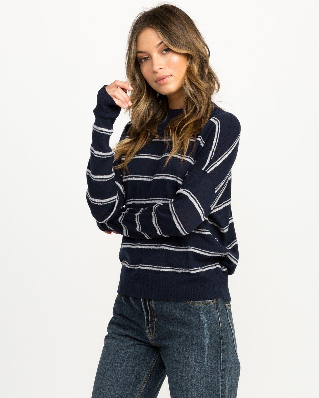 1 Armed Striped Sweater  WV01QRAR RVCA
