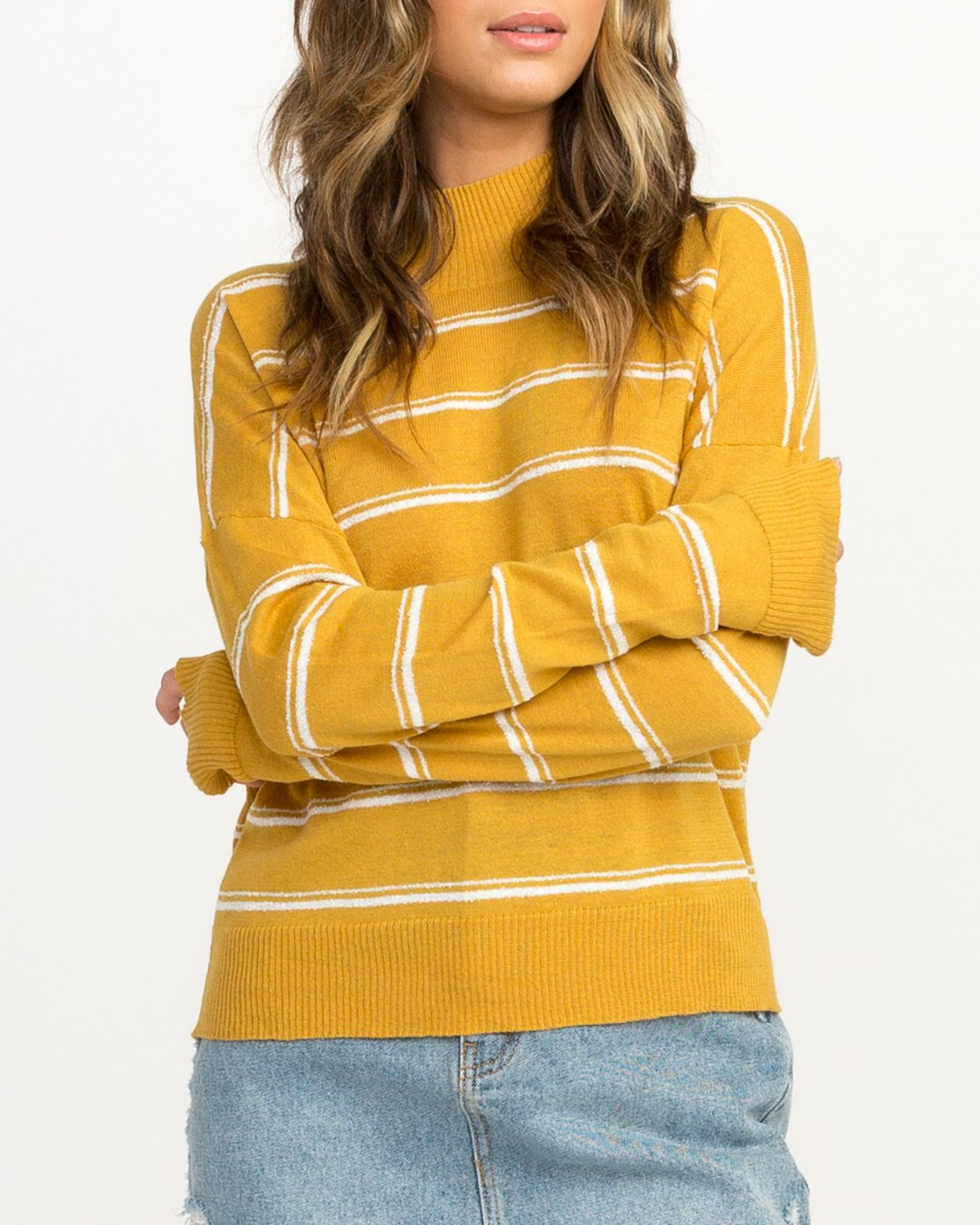 2 Armed Striped Sweater Multicolor WV01QRAR RVCA