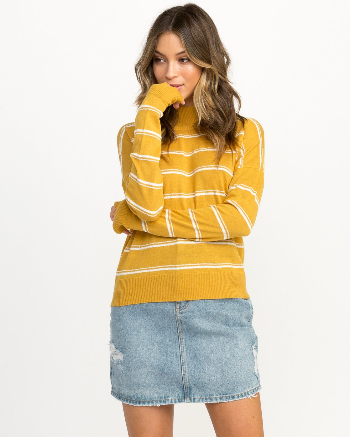 1 Armed Striped Sweater Multicolor WV01QRAR RVCA