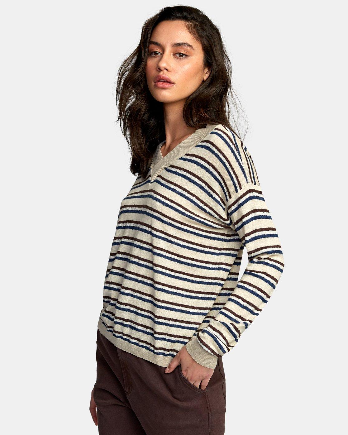 3 Abundant Lightweight Sweater Brown WV01WRAB RVCA