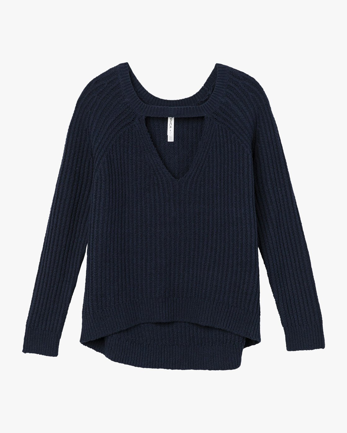 5 Case Knit Keyhole Sweater Blue WV02QRCA RVCA