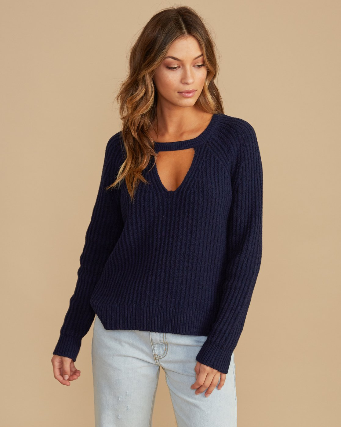 0 Case Knit Keyhole Sweater  WV02QRCA RVCA