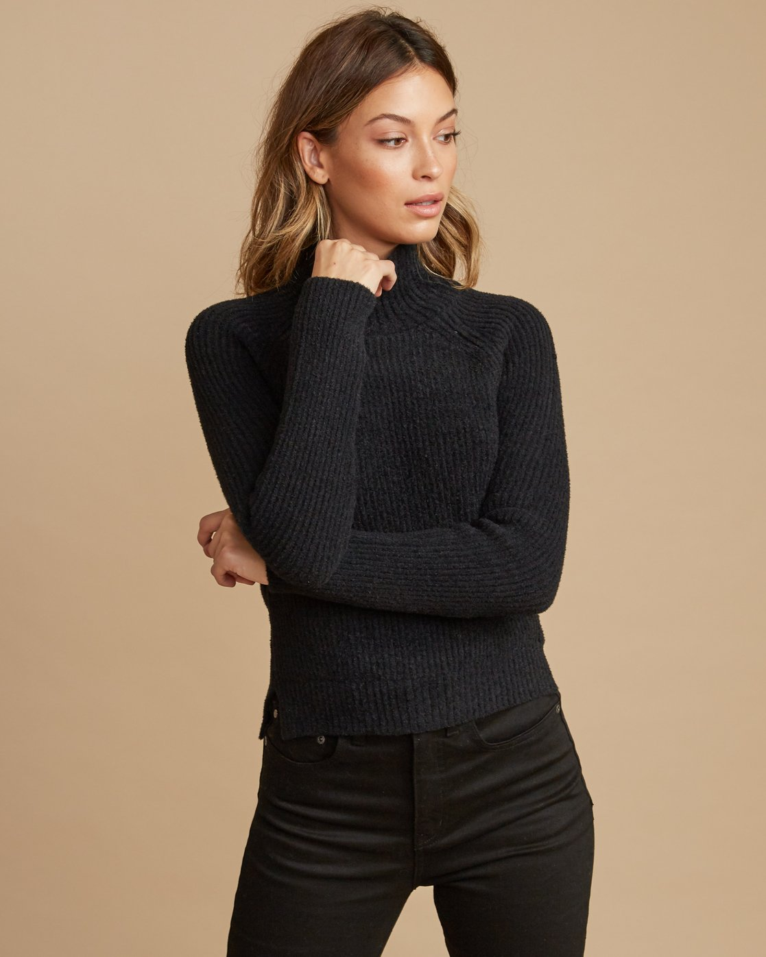 1 Oracle Ribbed Sweater  WV02SROR RVCA