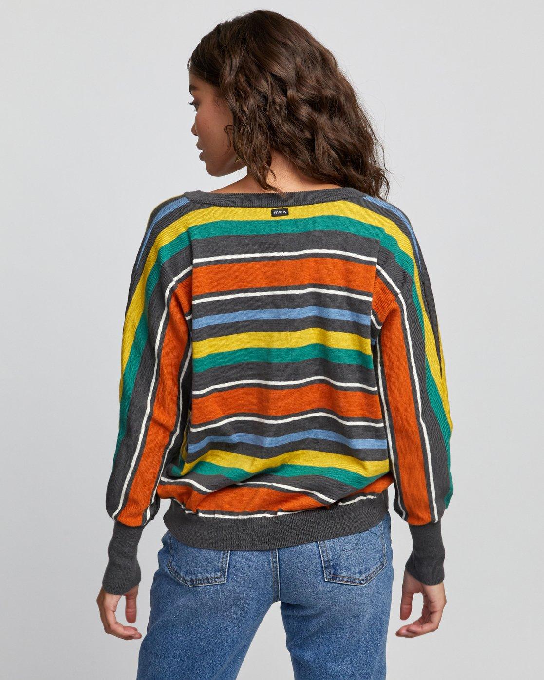 1 Carter Striped Sweater Grey WV03VRCA RVCA