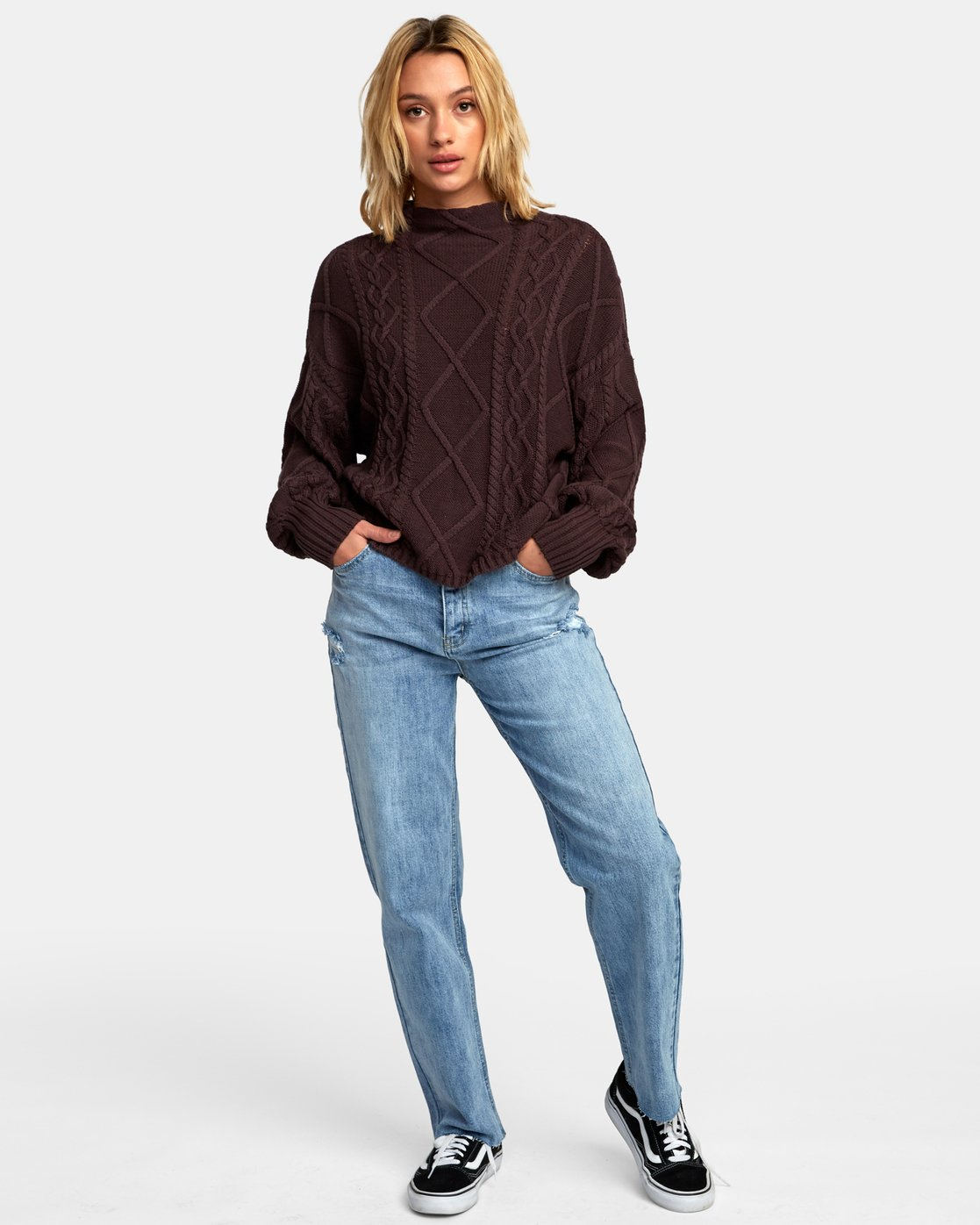 4 Attraction Knit Sweater  WV03WRAT RVCA