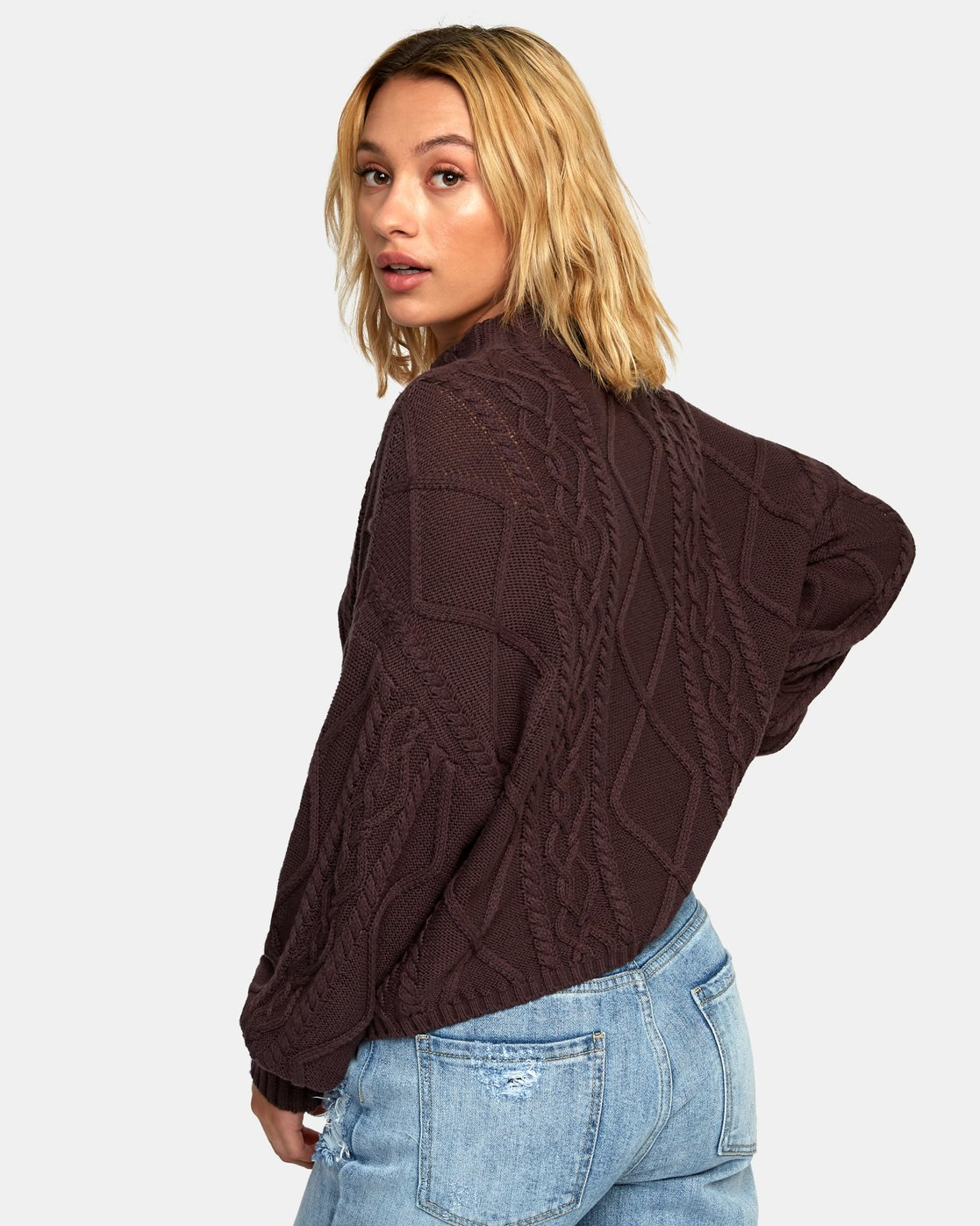 2 Attraction Knit Sweater  WV03WRAT RVCA