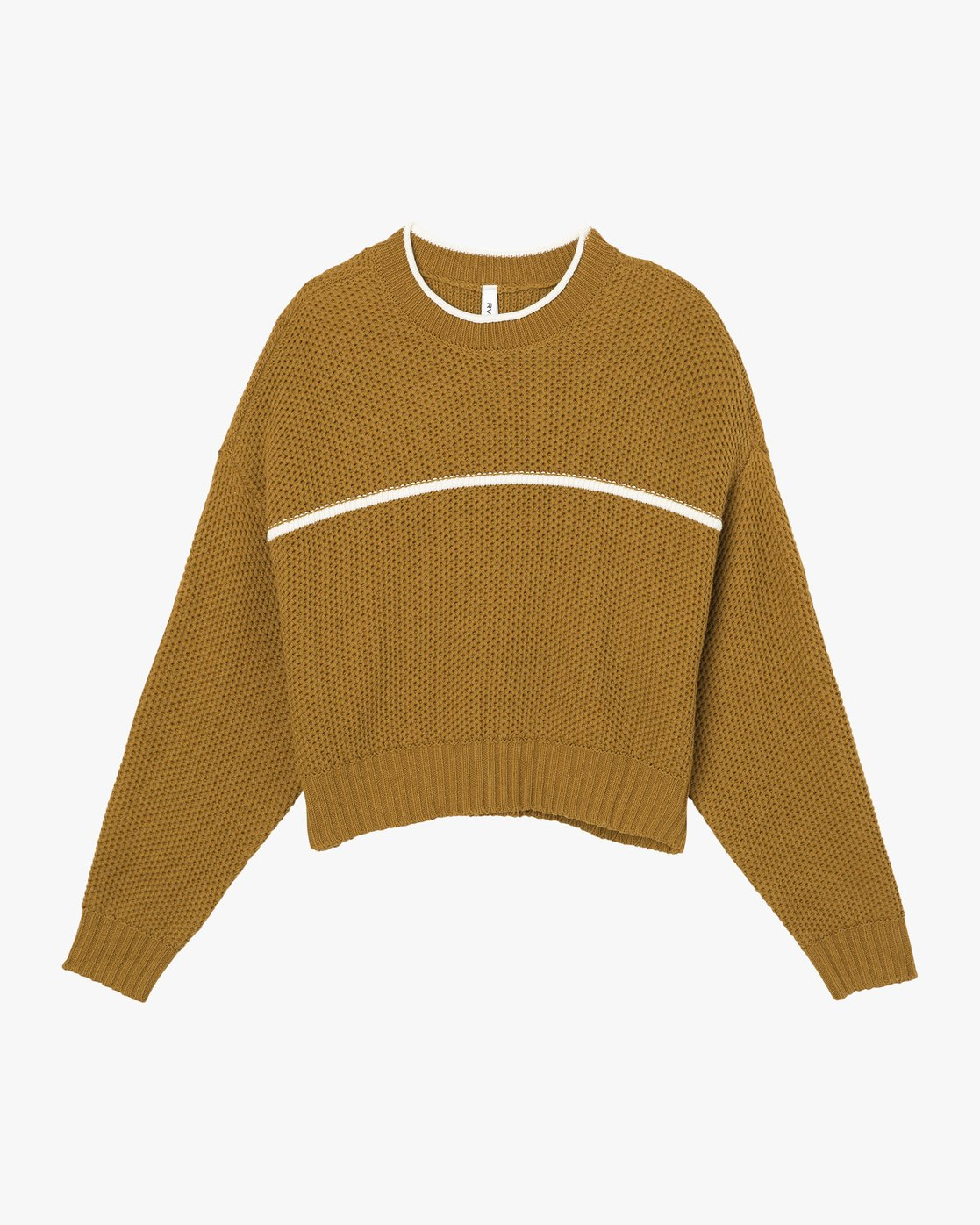 5 Jammer Cropped Knit Sweater Yellow WV05SRJA RVCA