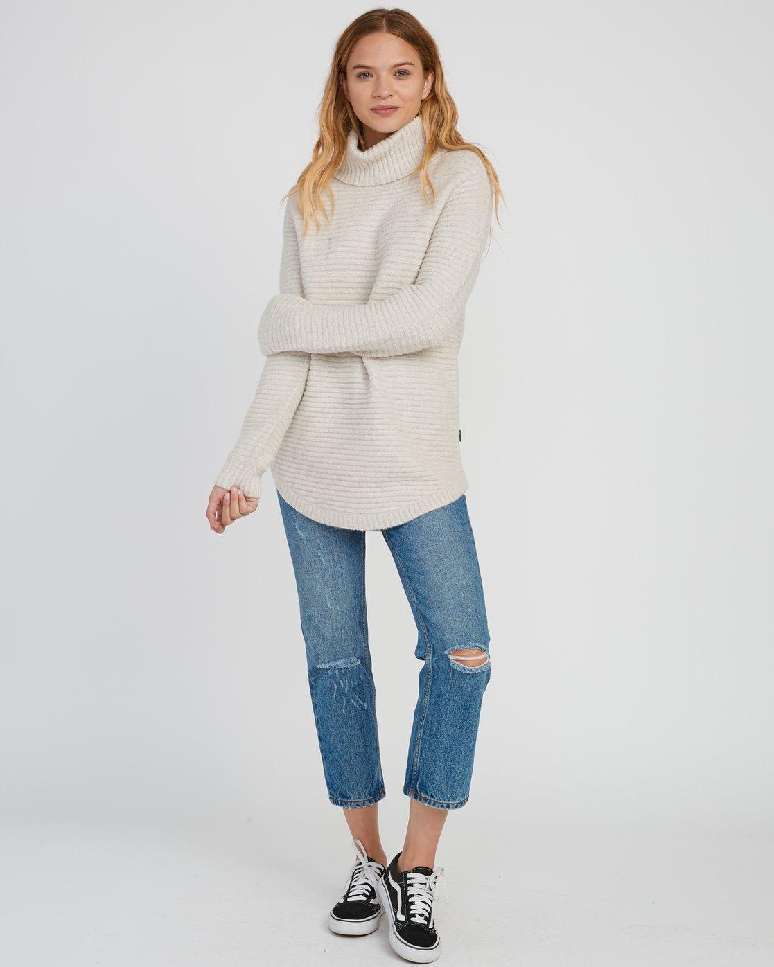 4 Jinx Knit Tunic Sweater Brown WV06SRJI RVCA
