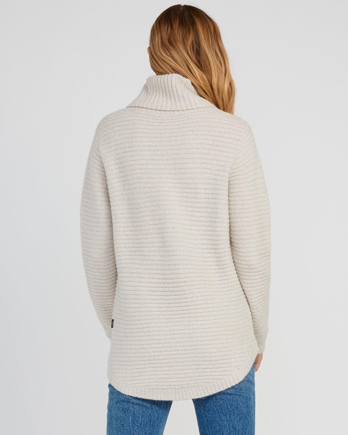 2 Jinx Knit Tunic Sweater Brown WV06SRJI RVCA
