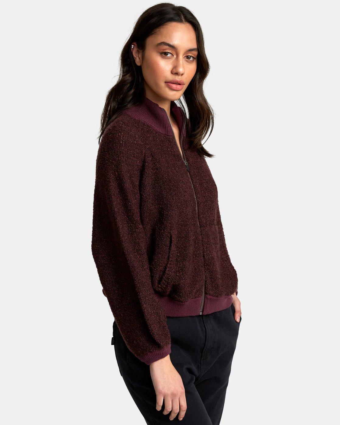 2 Erratic Zip-Up Knit Sweater  WV06WRER RVCA