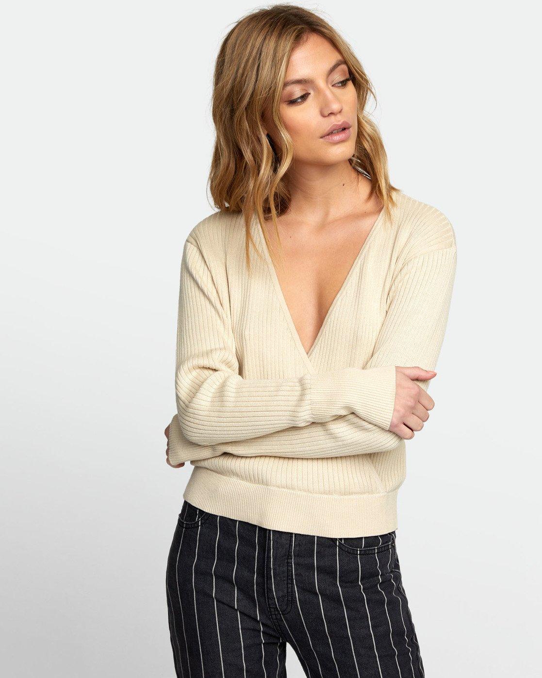 3 Pointed Surplice Sweater Brown WV07WRPO RVCA