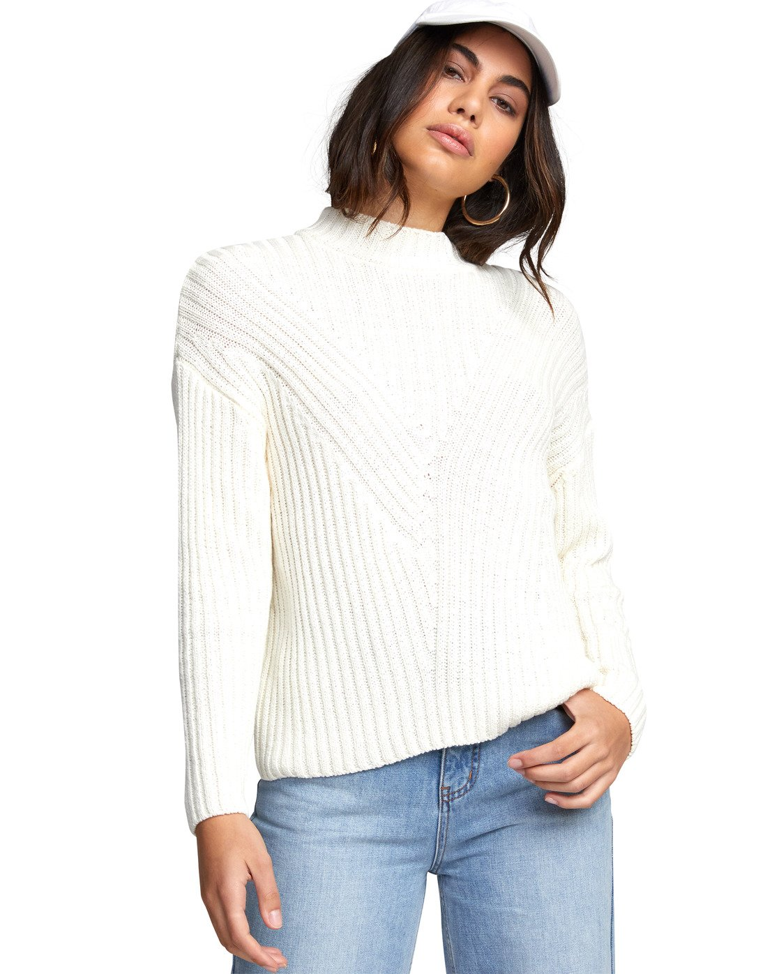 4 ARABELLA SWEATER White WV083RAR RVCA