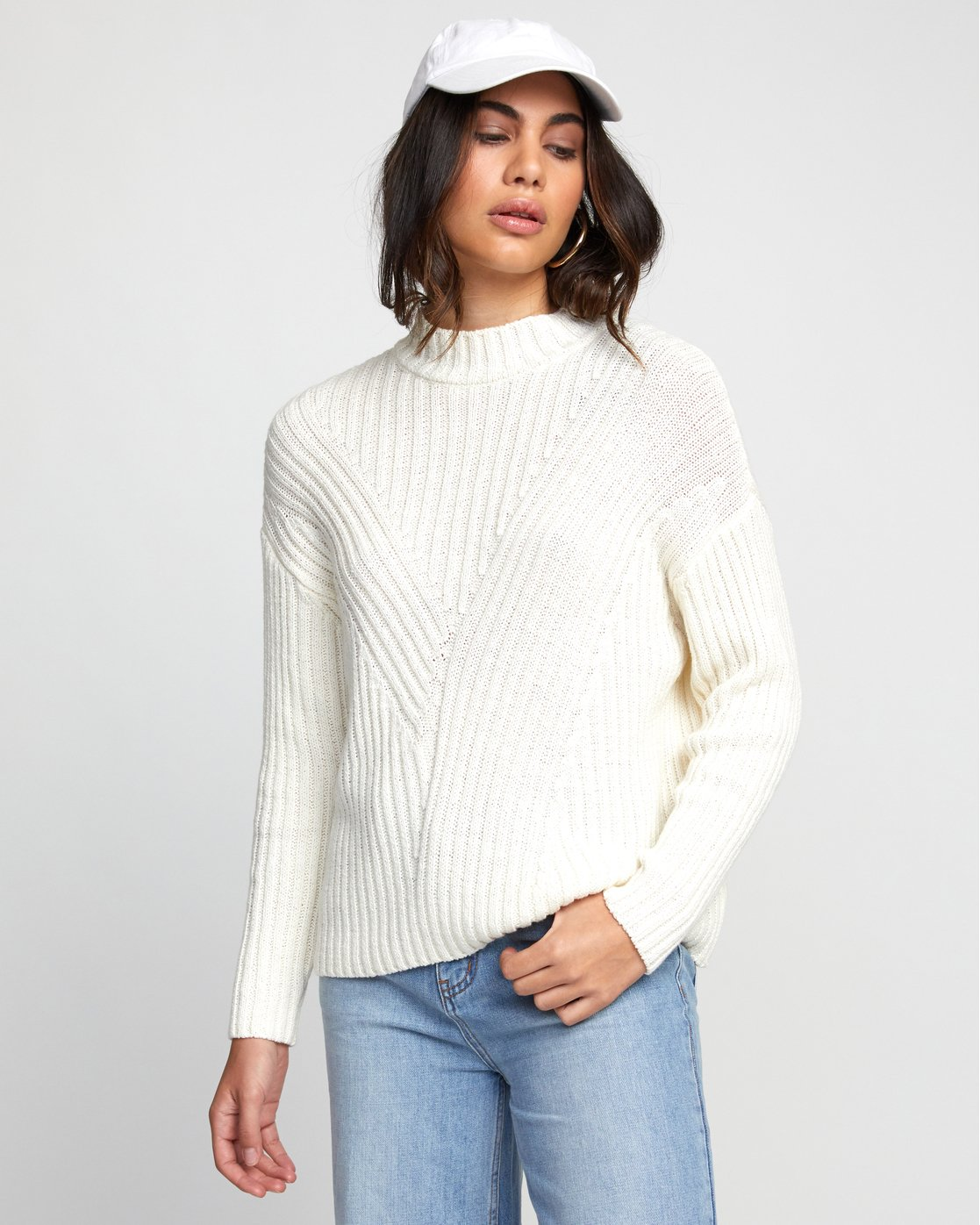 2 ARABELLA SWEATER White WV083RAR RVCA