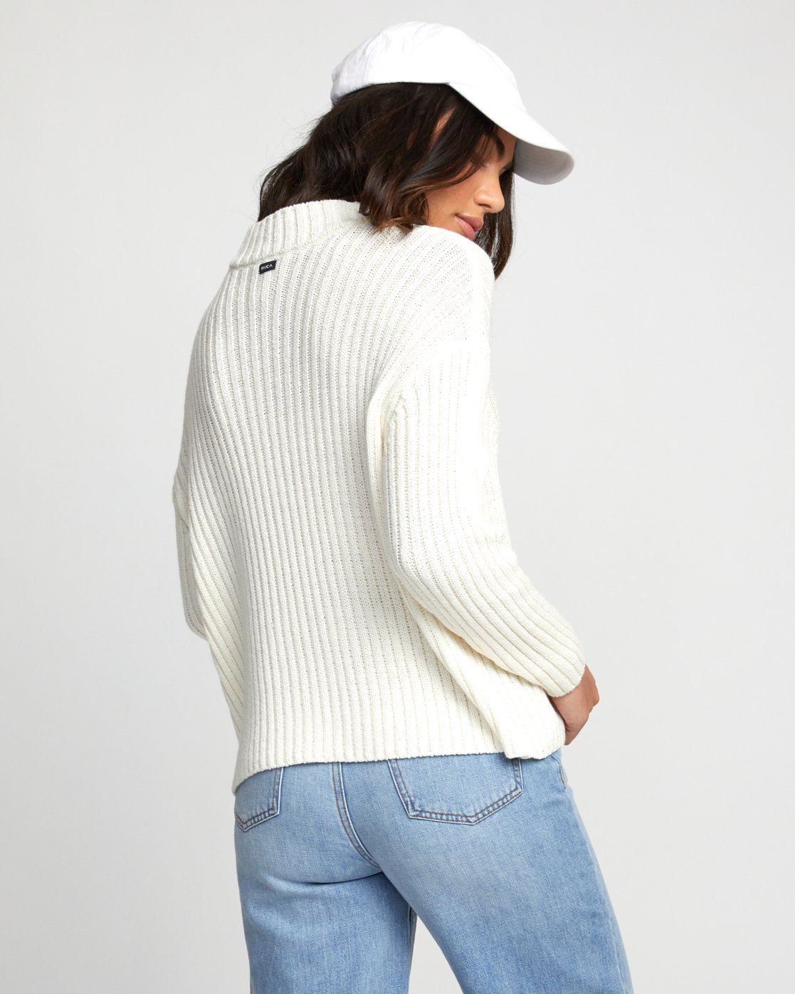 3 ARABELLA SWEATER White WV083RAR RVCA